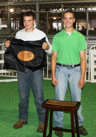 Kelwin Knobloch (Res) & Grant Knobloch (Ch) Senior Berkshire Showman, 2013 Iowa State Fair
