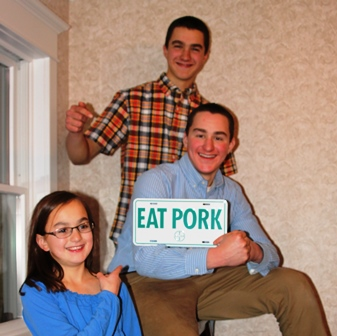 Kedron, Grant & Nelson promoting pork