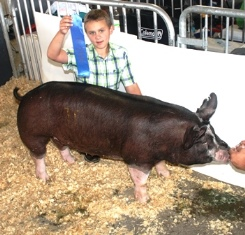 Dayton Knobloch with Class Winner Berk Gilt