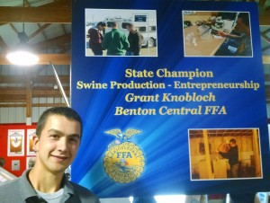 Grant Knobloch - 2015 Indiana FFA State Proficiency Winner Swine Entrepreneurship